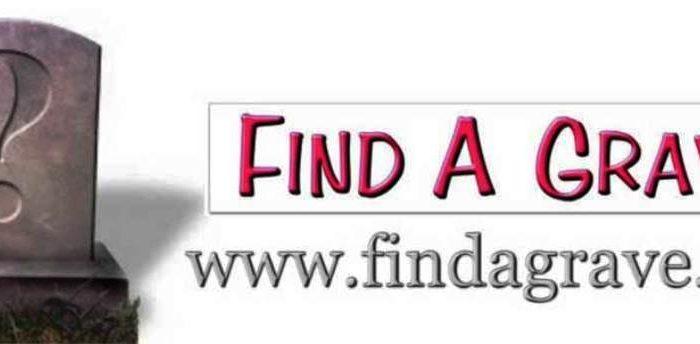 Findagrave online cemetery burial database